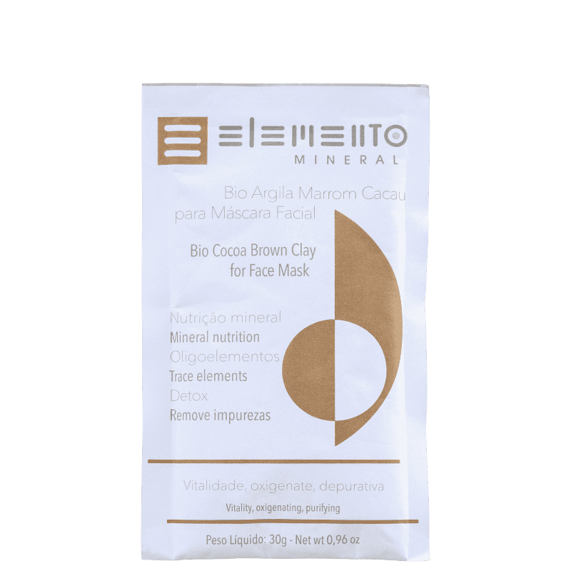 Elemento Mineral Bio Argila Marrom Cacau - Máscara Facial 30g