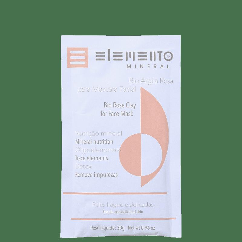 Elemento Mineral Bio Argila Rosa - Máscara Facial 30g