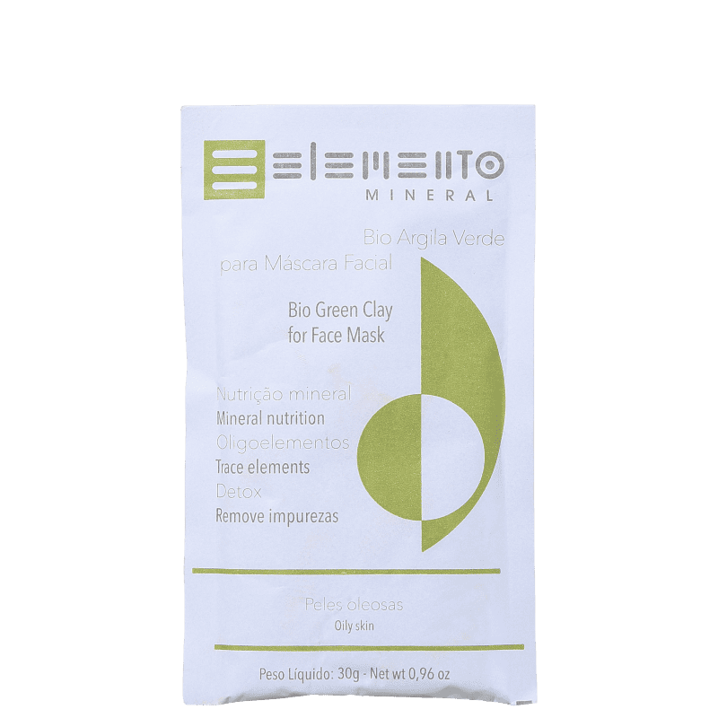 Elemento Mineral Bio Argila Verde - Máscara Facial 30g