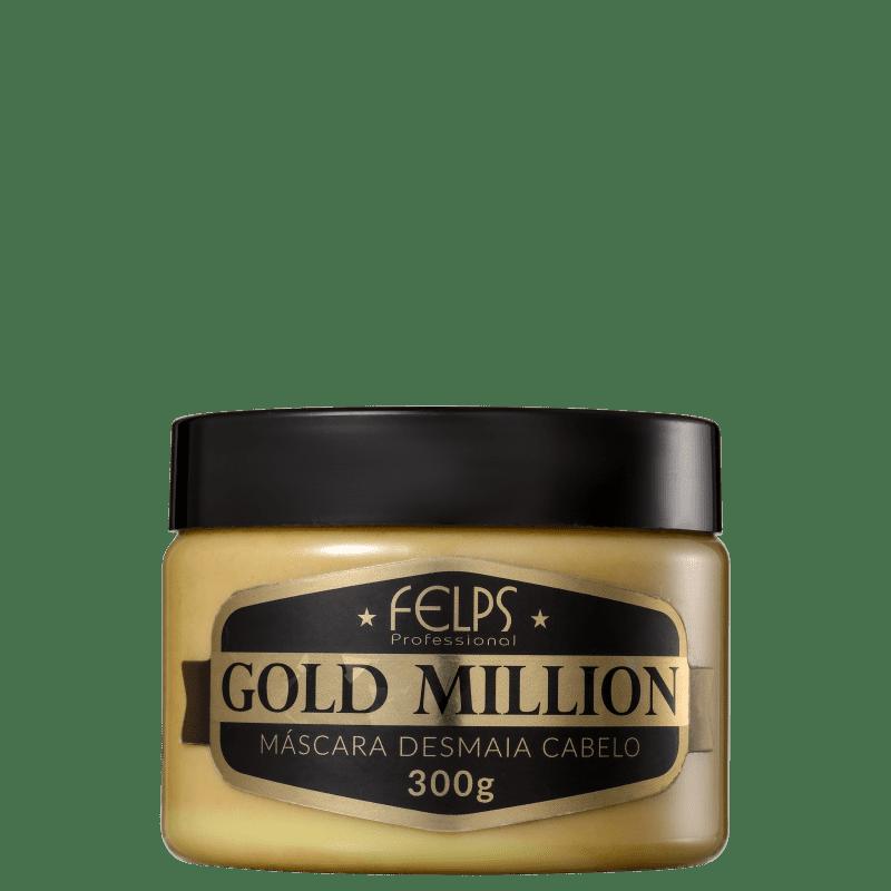 Felps Profissional Gold Million Desmaia Cabelo - Máscara Capilar 300g