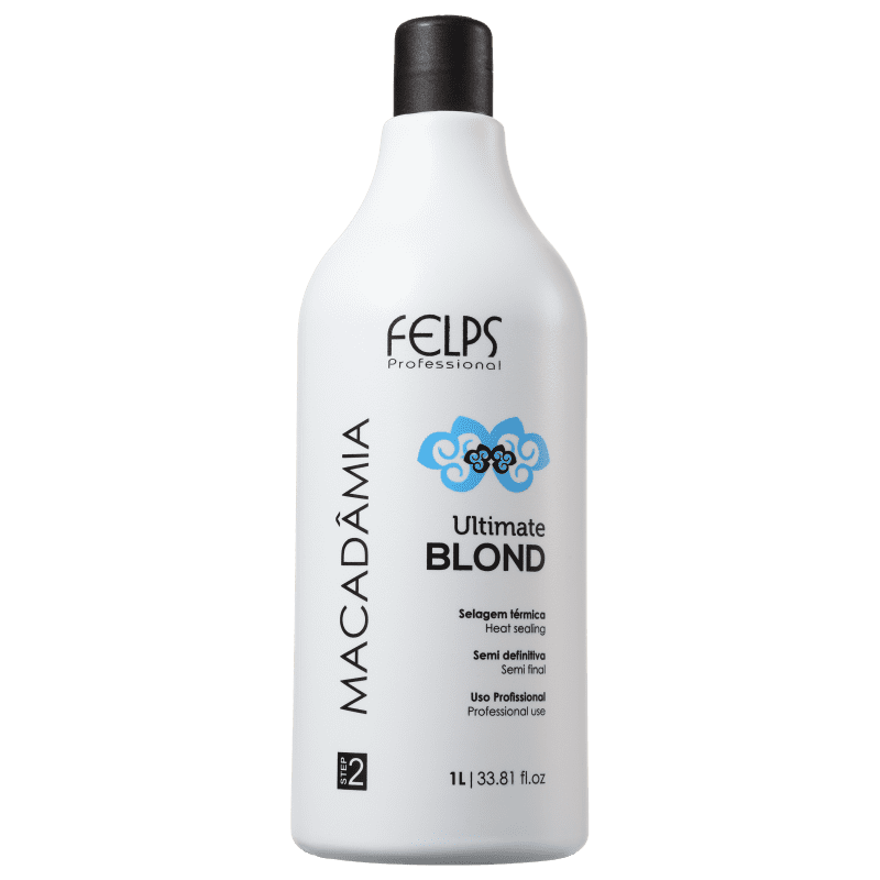 Felps Profissional Macadâmia Ultimate Blonde - Selagem Térmica 1000ml