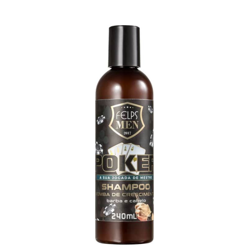 Felps Profissional Men Poker Bomba de Crescimento - Shampoo Multifuncional 240ml