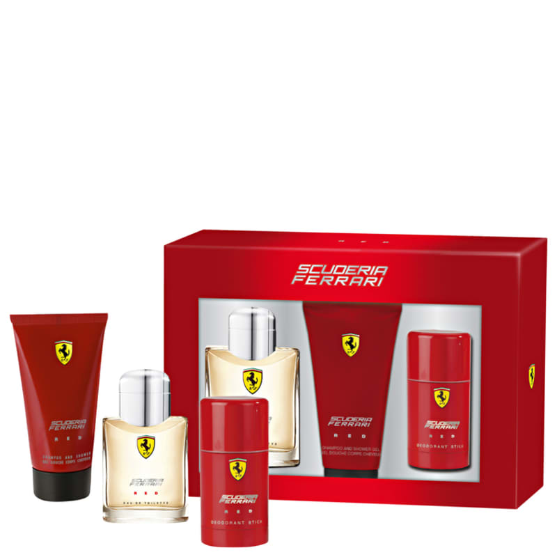8d97380925 Conjunto Ferrari Scuderia Red Masculino - Eau de Toilette 125ml + Gel de  Banho 150ml + Desodorante 75ml
