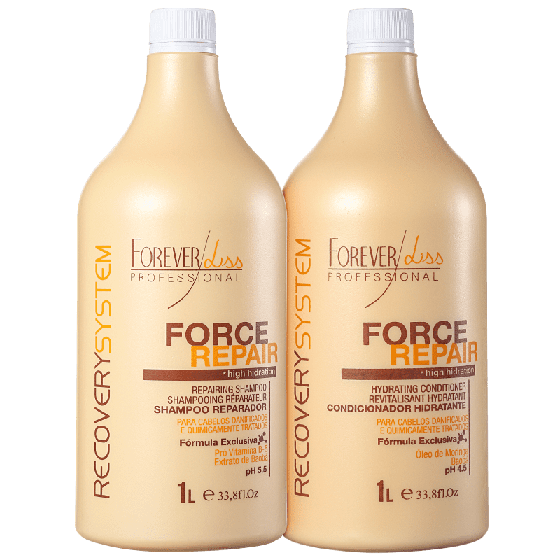 Kit Forever Liss Professional Force Repair Salon Duo (2 Produtos)