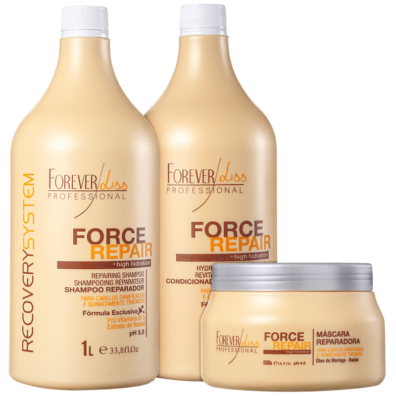 Kit Forever Liss Professional Force Repair Salon Trio (3 Produtos)