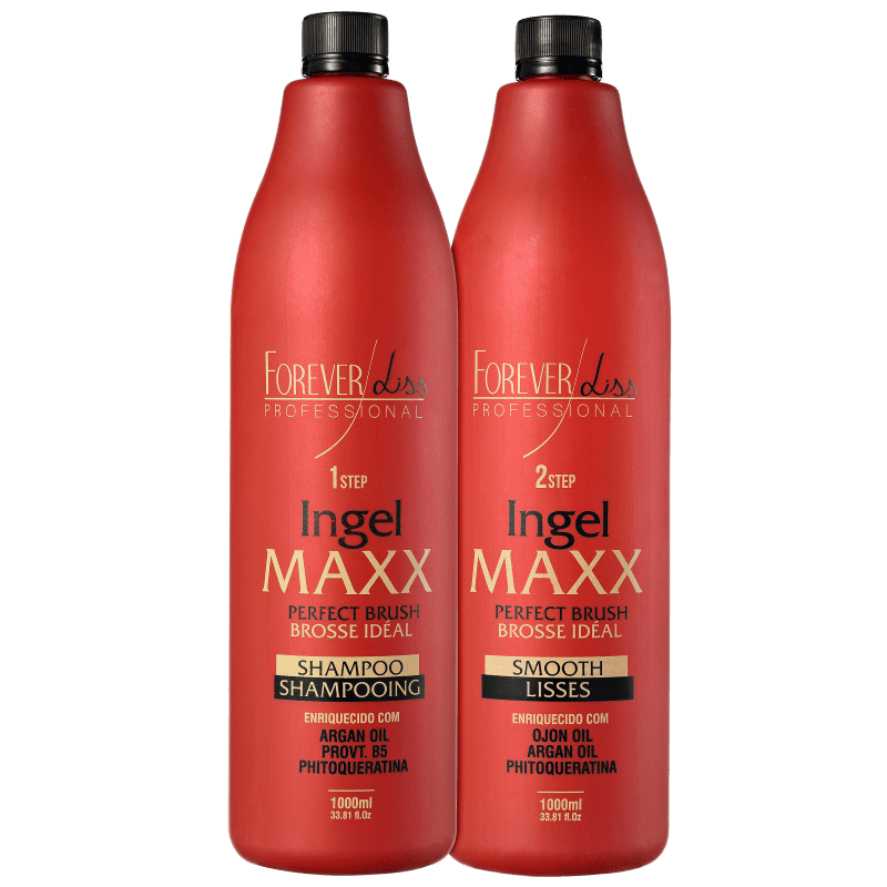 9a04e71a2 Kit Forever Liss Professional Ingel Maxx Escova Progressiva (2 Produtos)