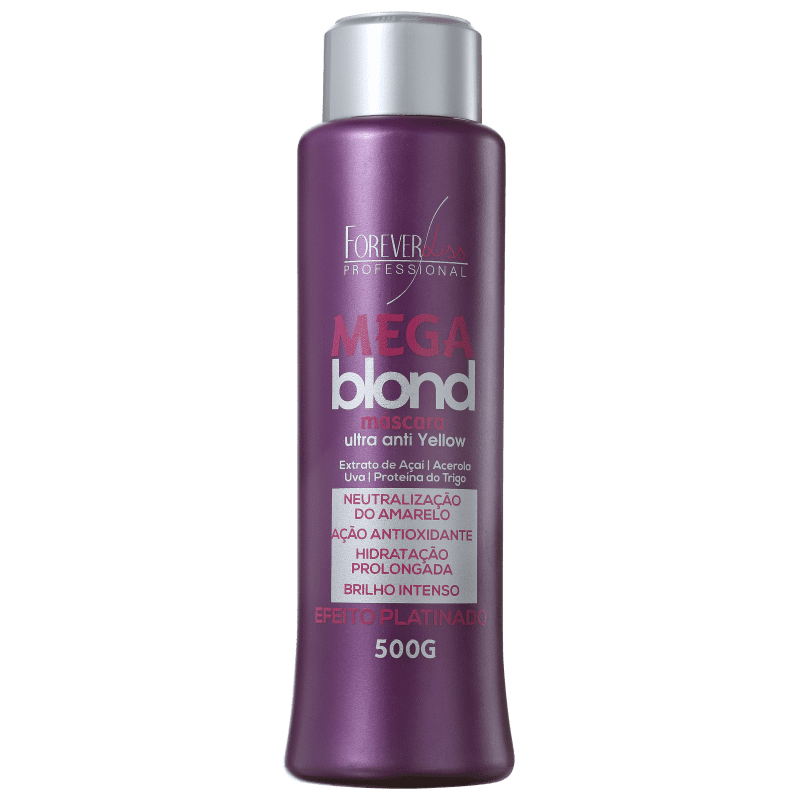 Forever Liss Professional Platinum Blond Mega Blond - Máscara Matizadora 500g