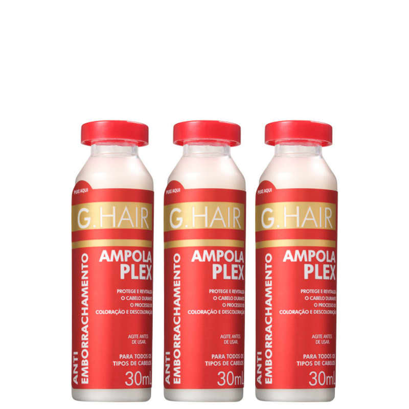 G.Hair Antiemborrachamento Plex - Ampolas Capilares 3x30ml