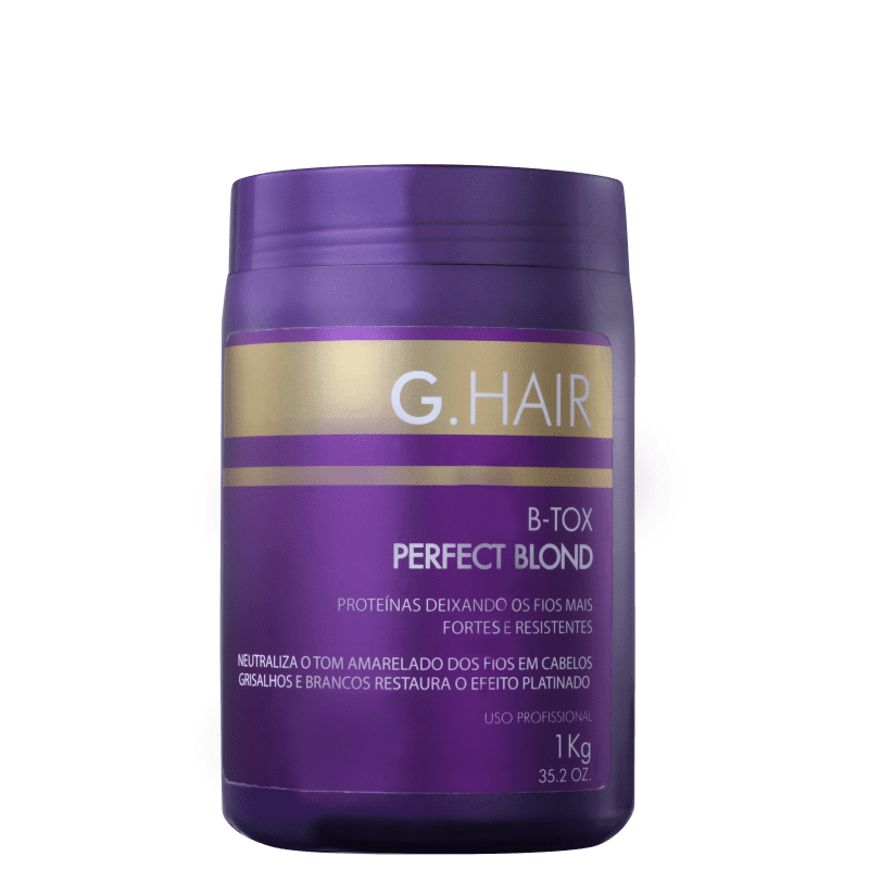 0a9d98486 Redutor de Volume G.Hair Perfect Blond BTox | Beleza na Web