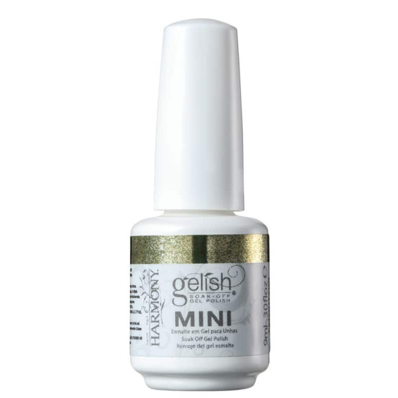 Gelish Soak Off Gel Mini Glitter & Gold - Esmalte Glitter 9ml