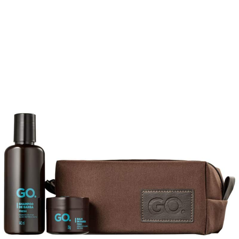 Kit Go Man Fresh Shampoo e Balm (2 Produtos + Nécessaire)