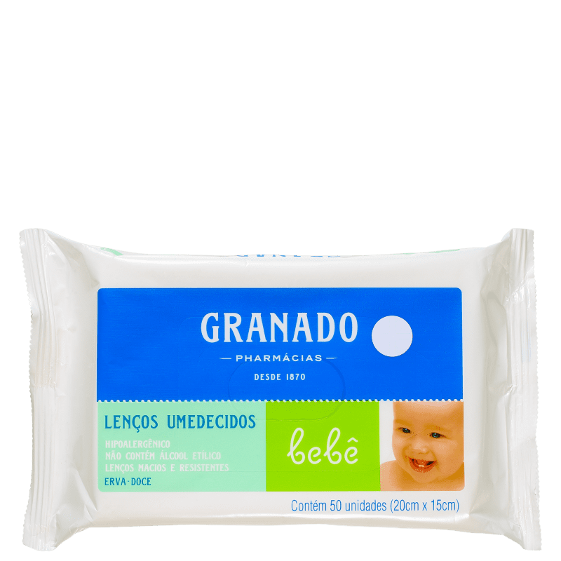 Granado Bebê Erva-Doce - Lenços de Limpeza (50 unidades)