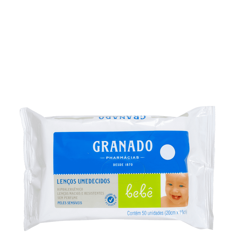 Granado Bebê Peles Sensíveis - Lenços de Limpeza (50 unidades)