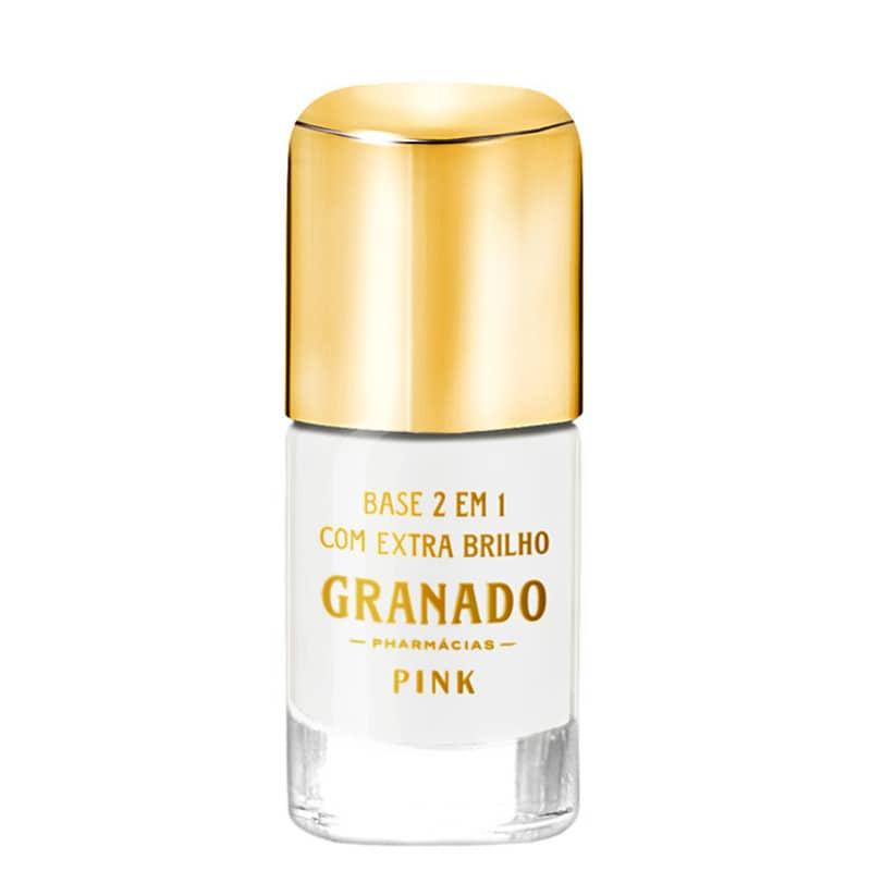 Granado Pink 2 em 1 com Extra Brilho - Base Incolor para Unhas 10ml