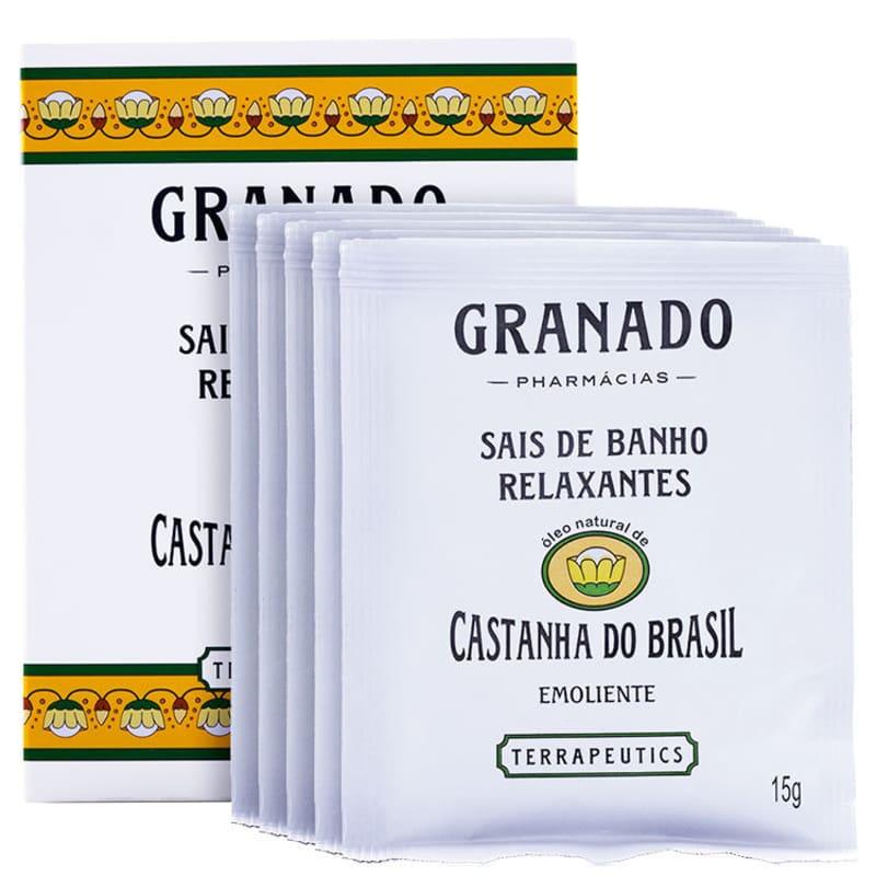 Granado Terrapeutics Relaxantes Castanha do Brasil - Sais de Banho 5x17g