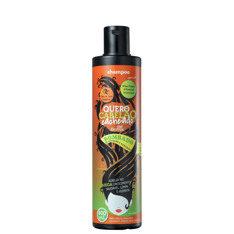 Griffus Quero Cabelão Cacheado - Shampoo sem Sal 400ml