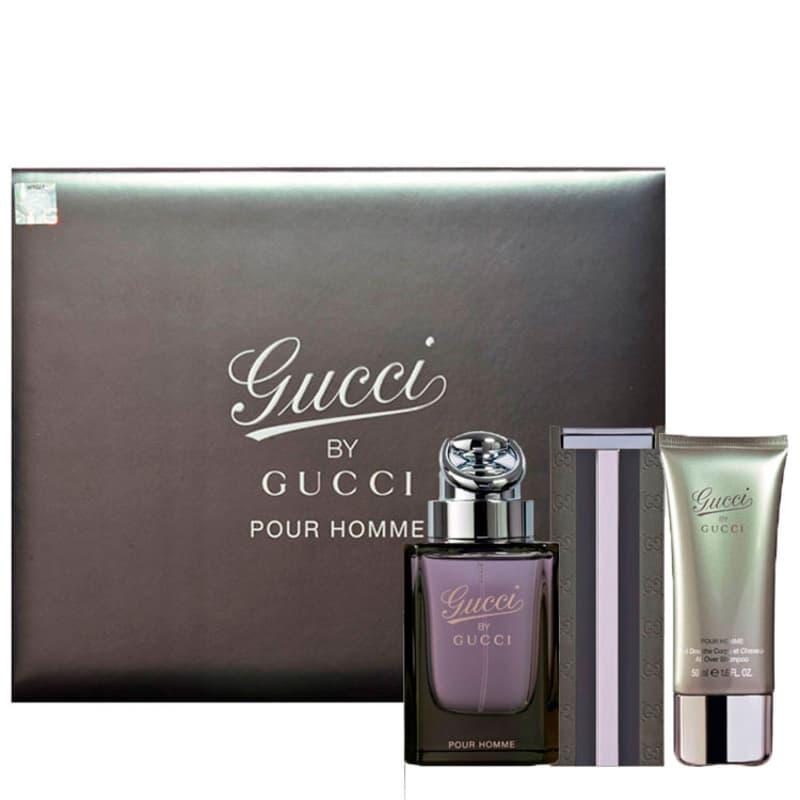 Gucci Conjunto Masculino Gucci By Gucci Pour Homme - Eau de Toilette 90ml + Eau  de Toilette Travel 30ml + Gel de Banho 50ml 43615721a4