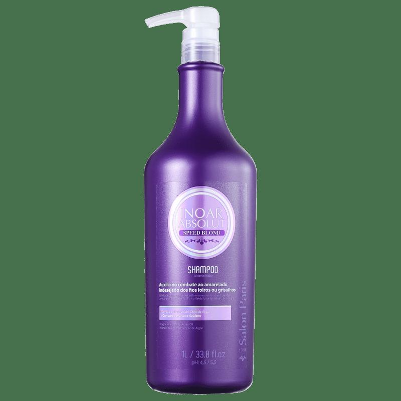 Inoar Absolut Speed Blond - Shampoo Desamarelador 1000ml