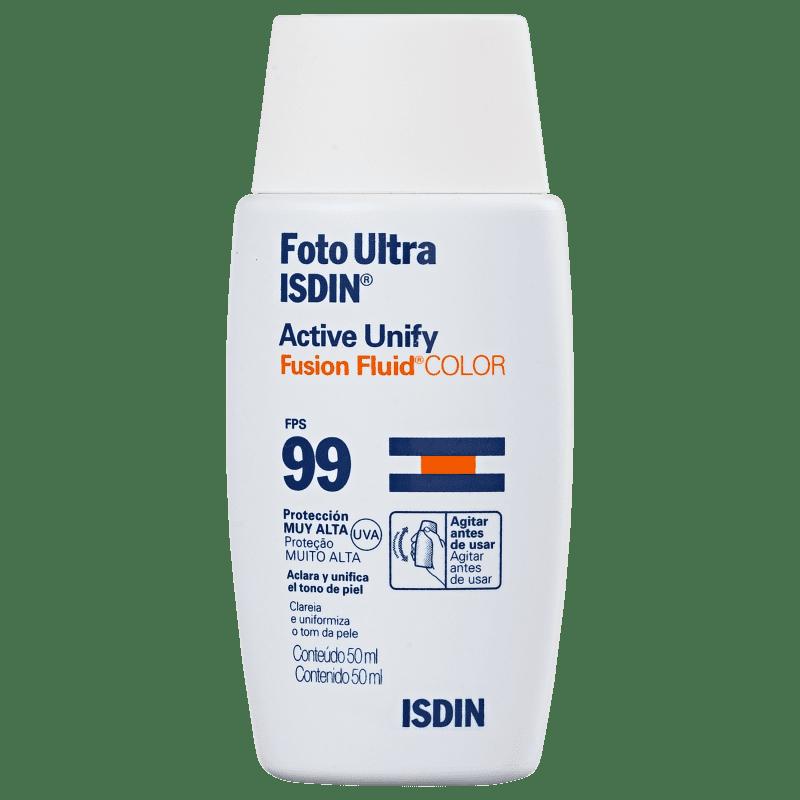 ISDIN Foto Ultra Active Unify Fusion Fluid Color - Loção Clareadora de Manchas 50ml
