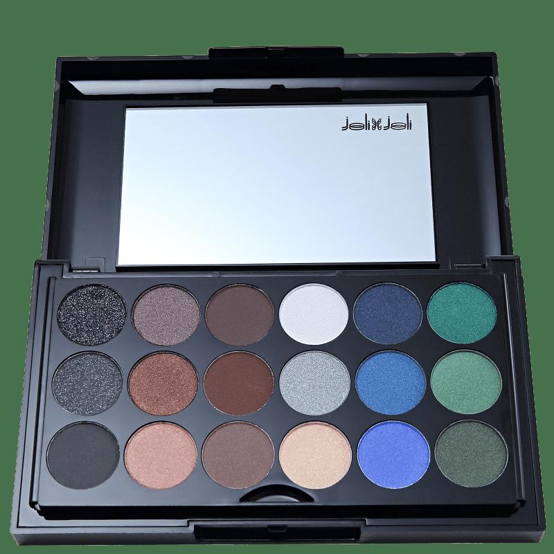 Joli Joli Black Glitters PD 988 - Estojo de Maquiagem