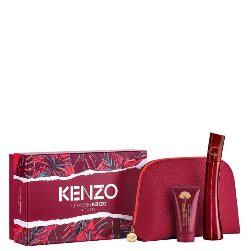 Conjunto Flower by Kenzo L'Élixir Feminino - Eau de Parfum 50ml + Loção Corporal 50ml + Nécessaire
