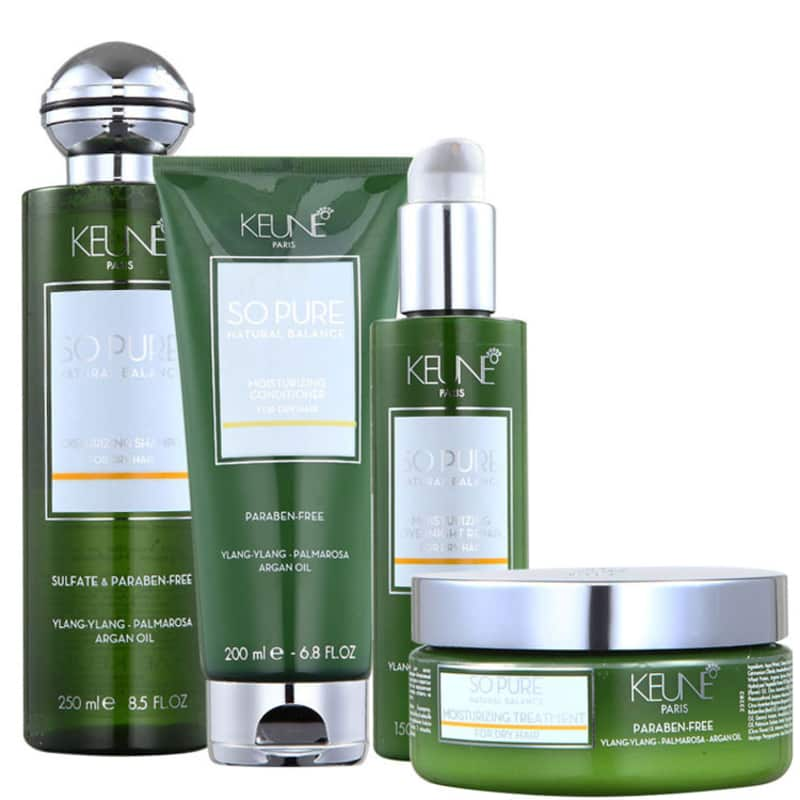 Kit Keune So Pure Moisturizing Overnight Treatment (4 Produtos)