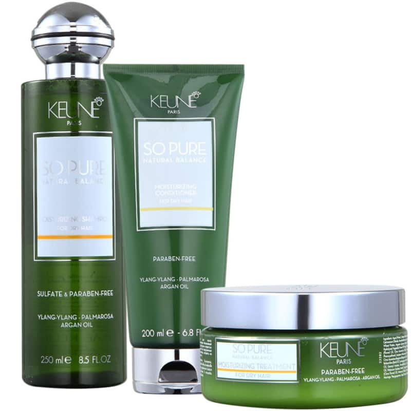 Kit Keune So Pure Moisturizing Treatment (3 Produtos)