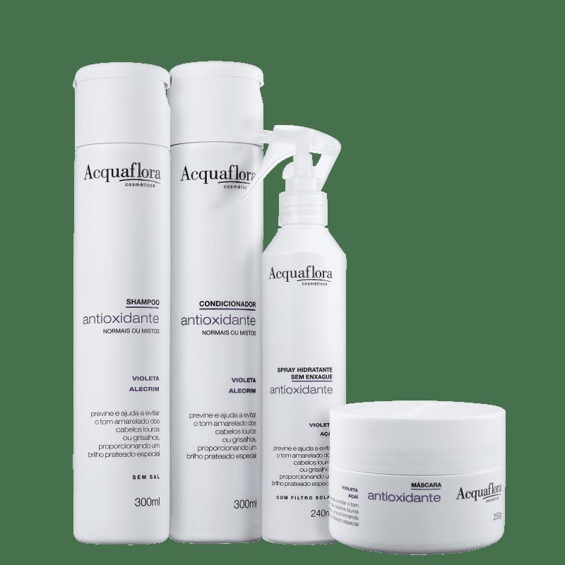 Kit Acquaflora Antioxidante Normais ou Mistos Completo (4 Produtos)