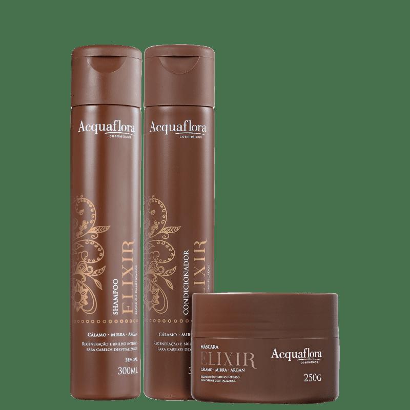 Kit Acquaflora Elixir Secos e Danificados (3 Produtos)