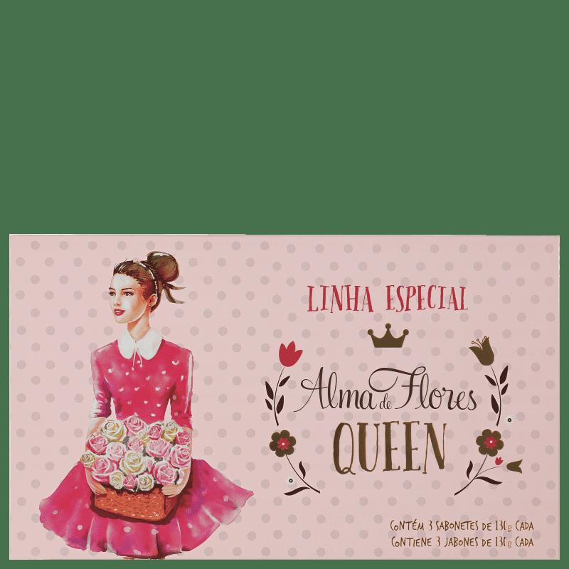 Kit Alma de Flores Queen - Sabonetes em Barra 3x130g