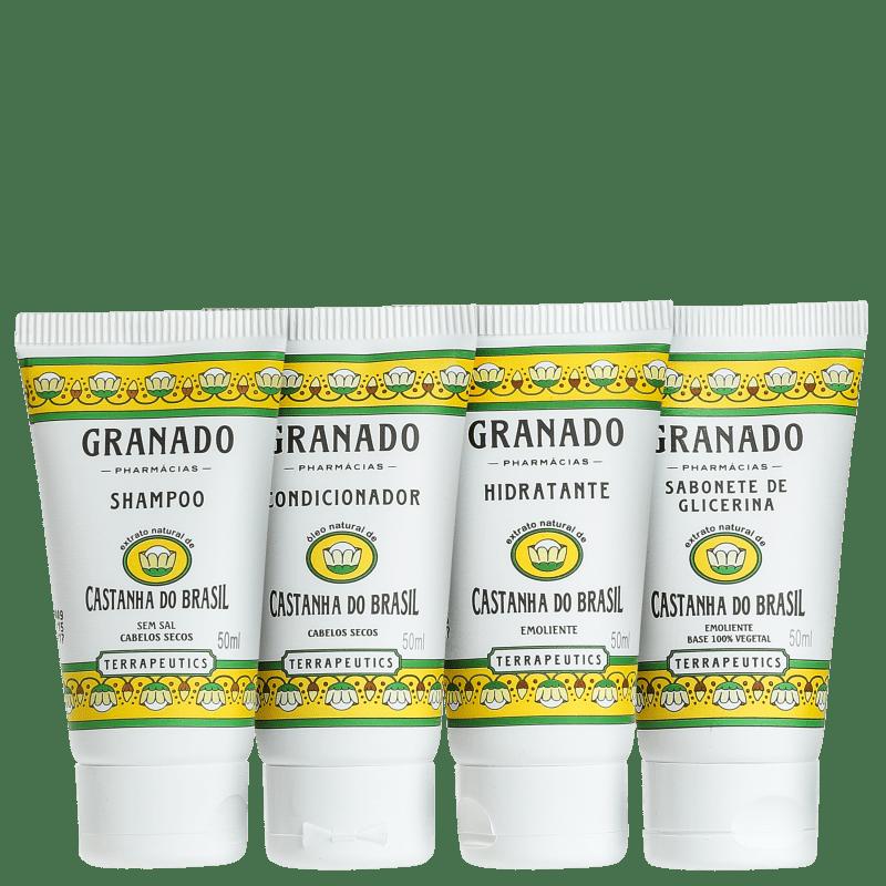 Kit Granado Terrapeutics Banho Castanha do Brasil (4 Produtos)