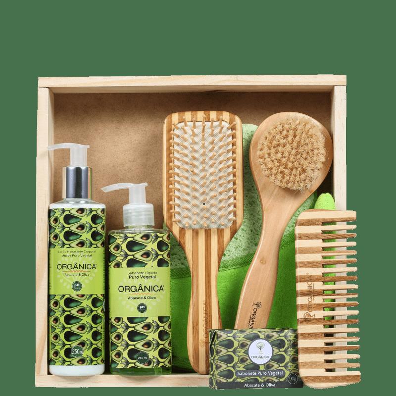 Kit Orgânica Banho Conforto Abacate e Oliva (7 Produtos)