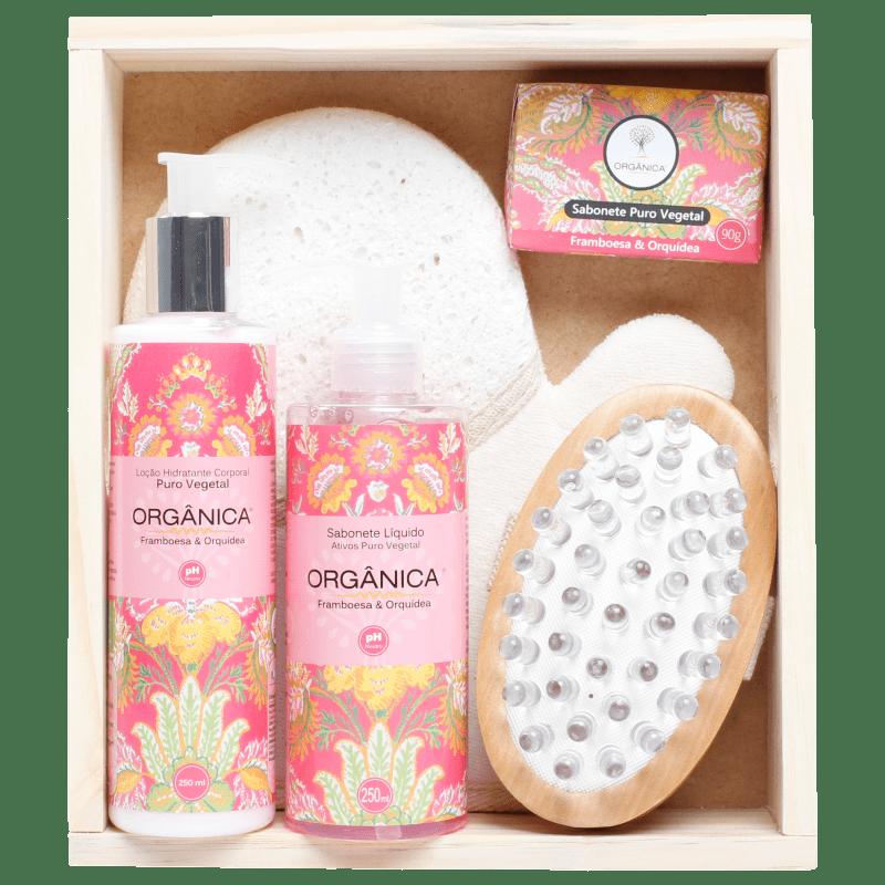Kit Banho Orgânica Spa Framboesa e Orquídea (5 produtos)