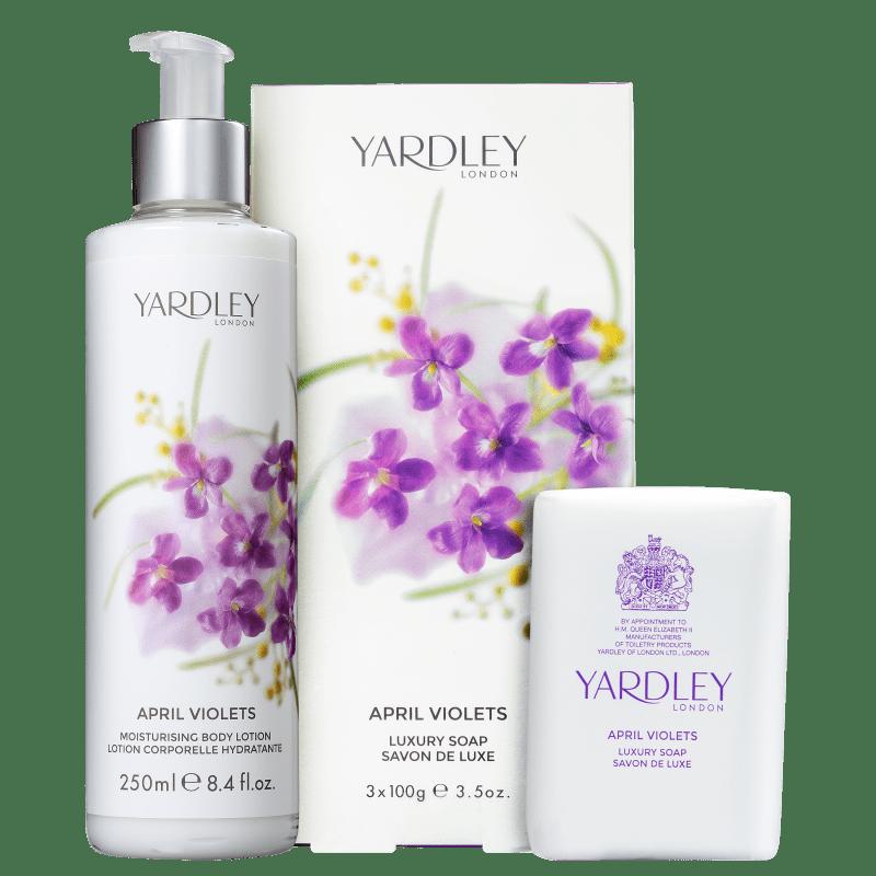 Kit Banho Yardley April Violets (2 Produtos)