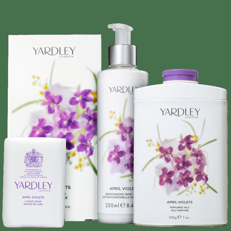 Kit Banho Yardley April Violets (3 Produtos)