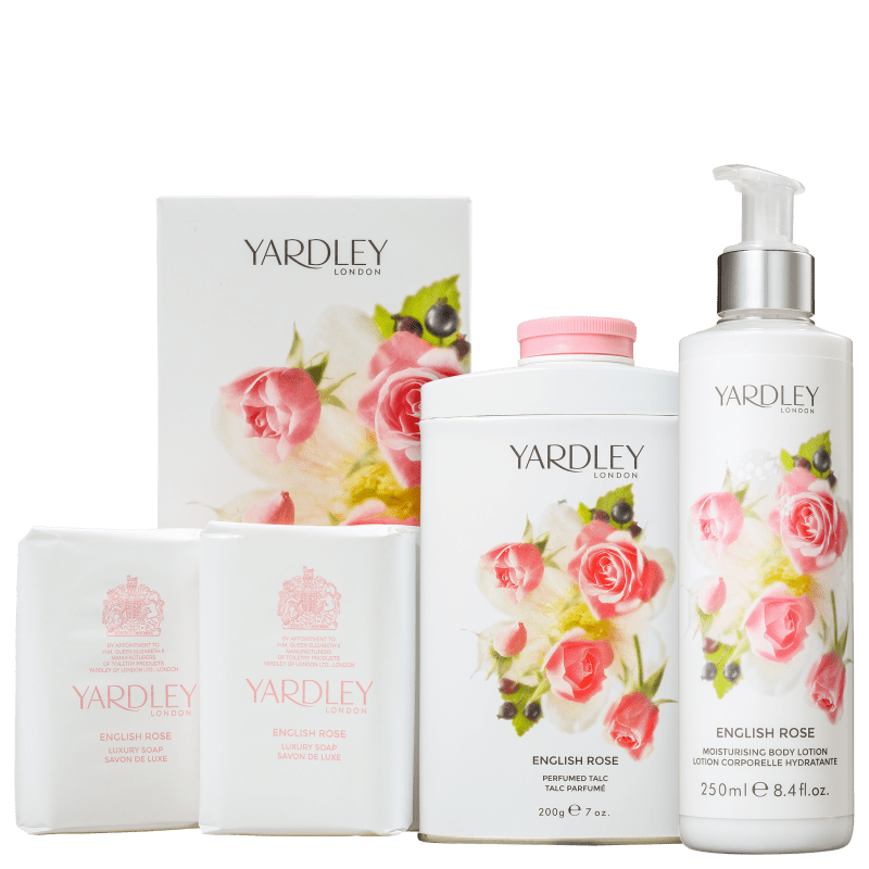 Kit Banho Yardley English Rose Completo (3 Produtos)