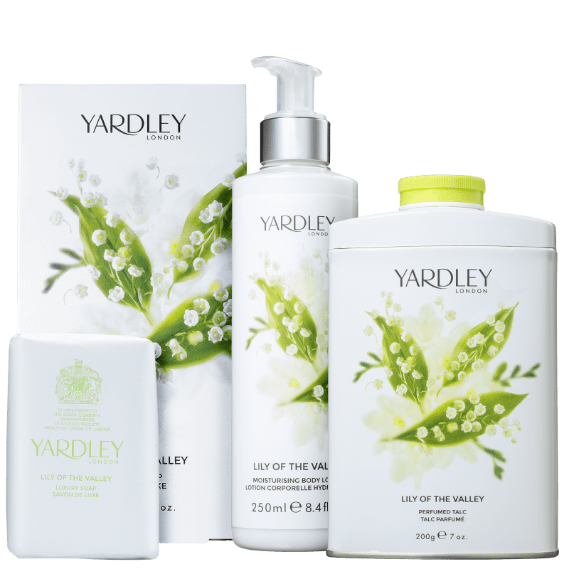 Kit Banho Yardley Lily of The Valley Completo (3 Produtos)