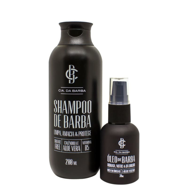 Kit Barba Cia da Barba - Shampoo 200ml + Óleo 30ml