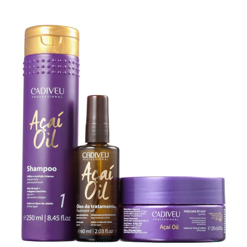 Kit Cadiveu Professional Açaí Oil Treatment (3 Produtos)