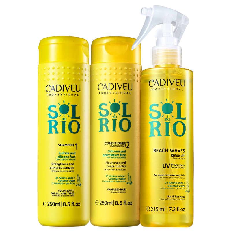 Kit Cadiveu Professional Sol do Rio Reconstrução Máxima (3 Produtos)