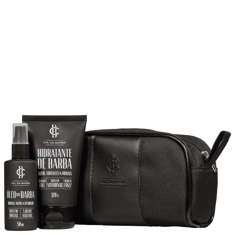Kit Cia da Barba The Black Collection (2 Produtos + Nécessaire)