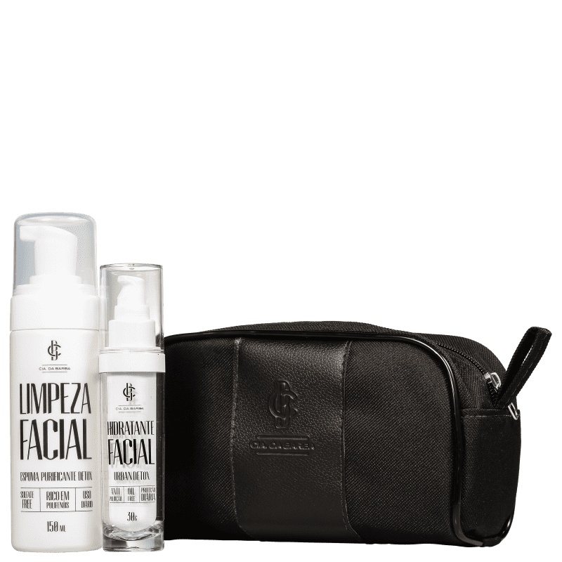 Kit Cia da Barba The White Collection (2 Produtos + Nécessaire)
