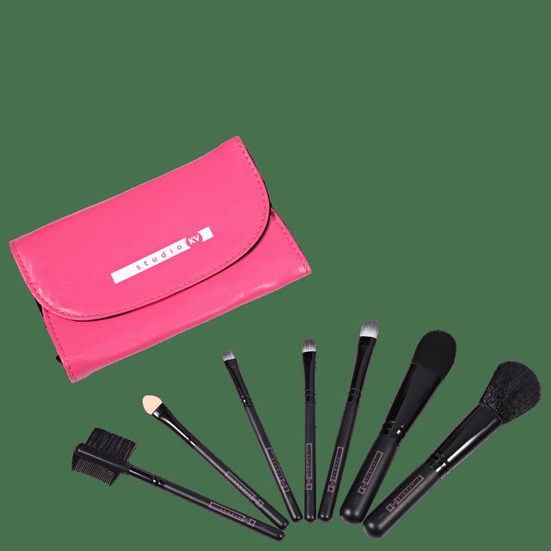 Kit de Pincéis Studio KV Sweet Glam Rosa (7 Produtos)