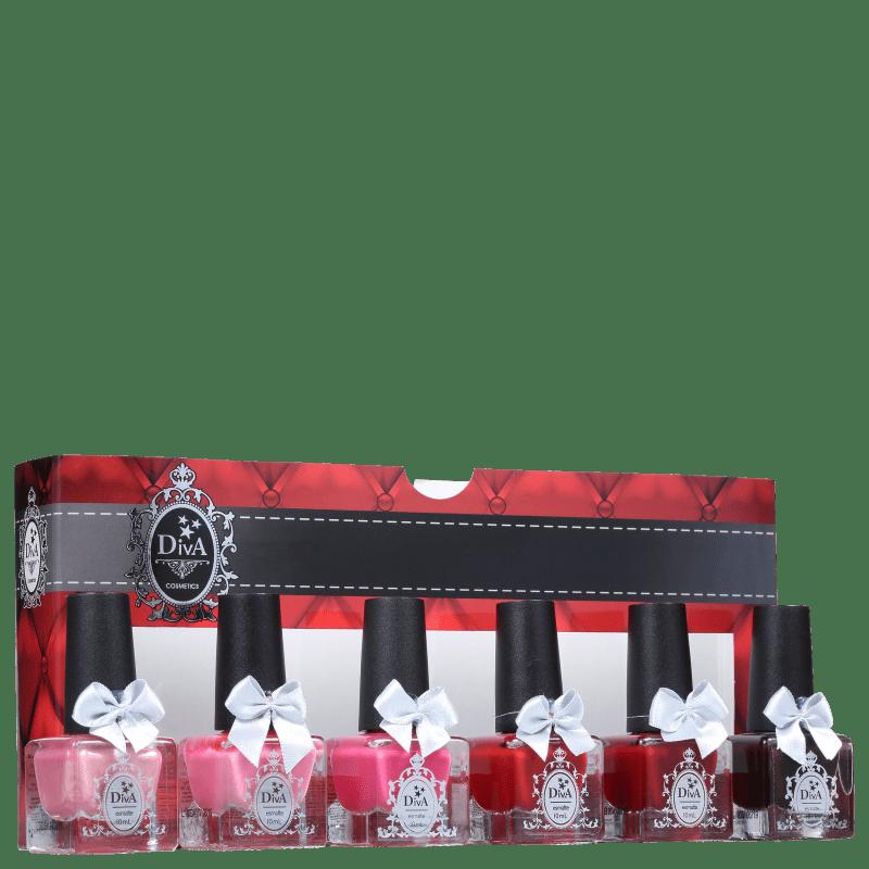 Kit Diva Cosmetics Cores da Paixão (6 Produtos)