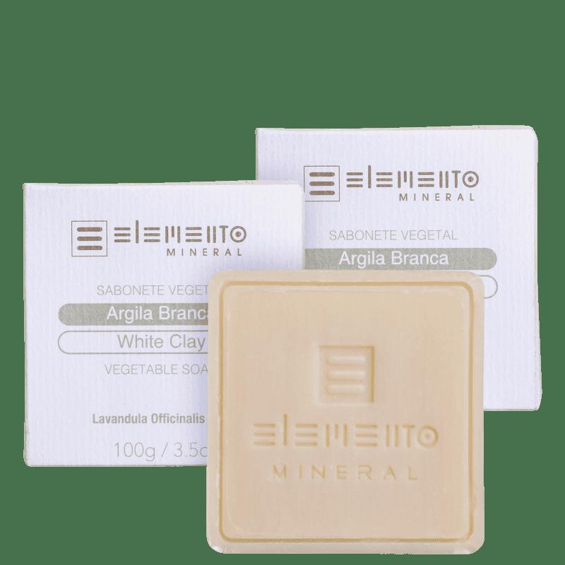 Kit Elemento Mineral Argila Branca (3 Produtos)