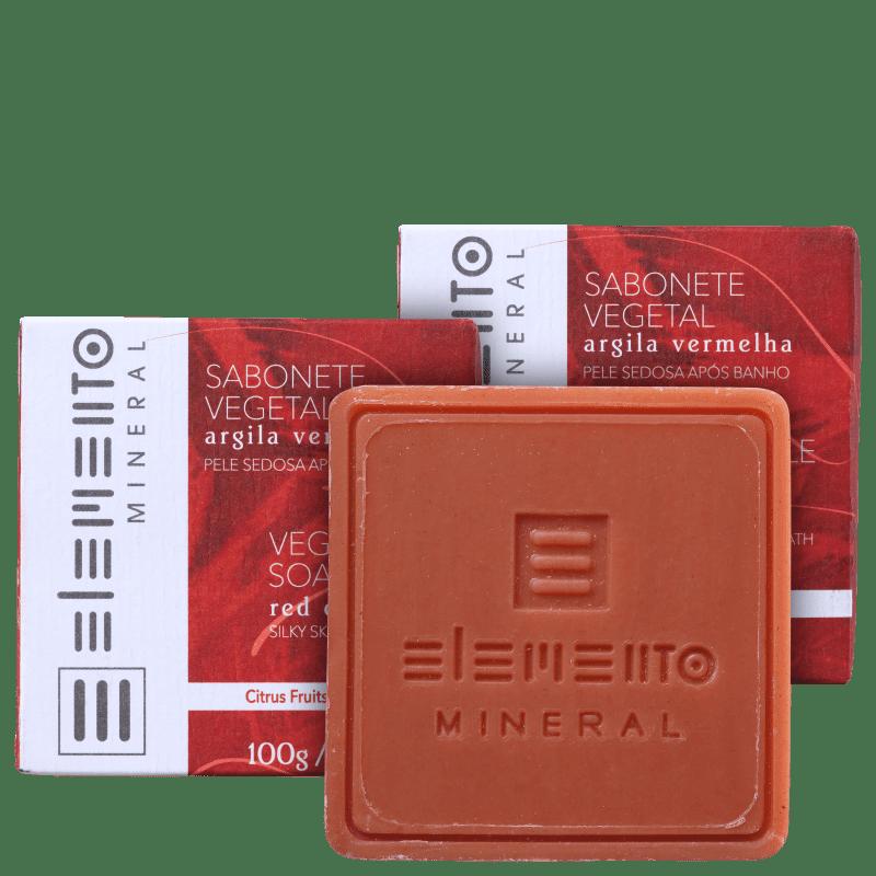 Kit Elemento Mineral Argila Vermelha (3 Produtos)