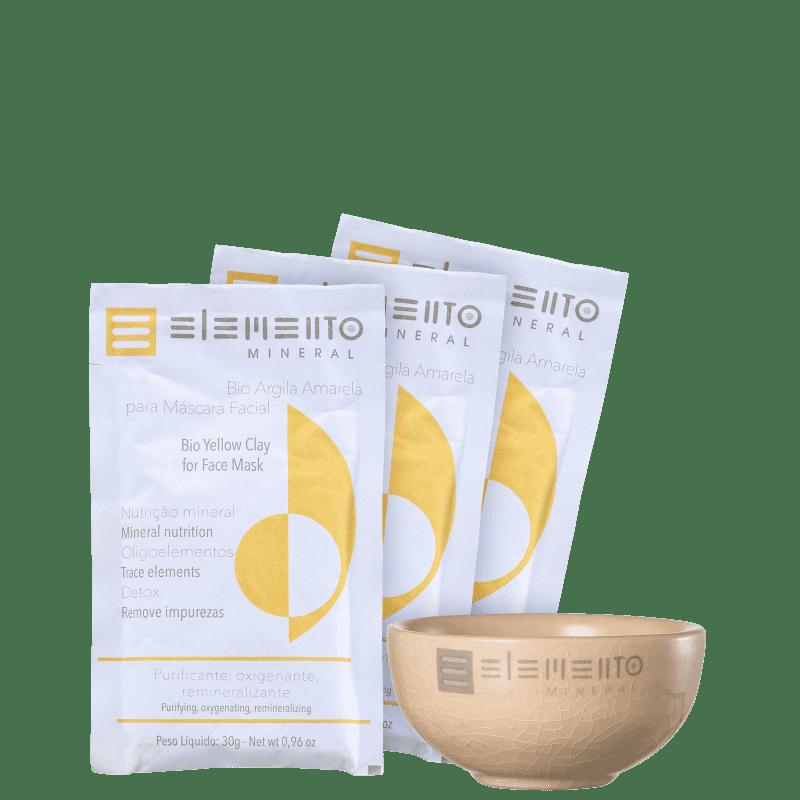Kit Elemento Mineral Bio Argila Amarela (4 produtos)
