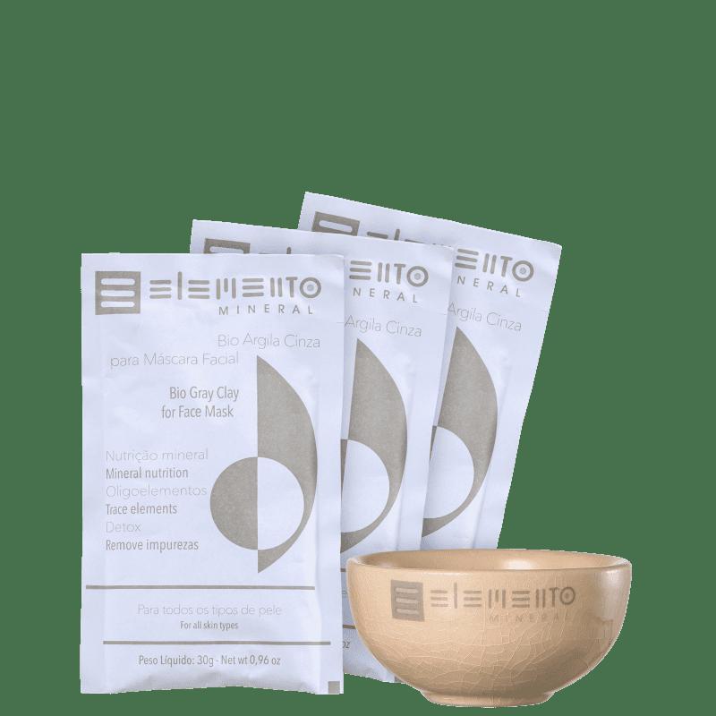 Kit Elemento Mineral Bio Argila Cinza (4 produtos)