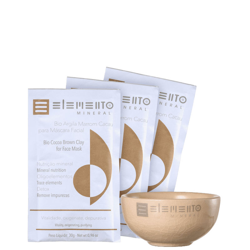 Kit Elemento Mineral Bio Argila Marrom Cacau (4 produtos)