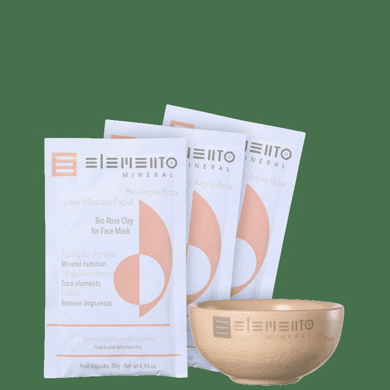 Kit Elemento Mineral Bio Argila Rosa (4 produtos)